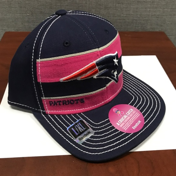b19200237b9 NWT New England Patriots Fitted Hat Breast Cancer